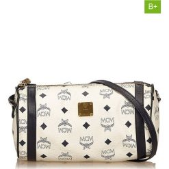 Torebki klasyczne damskie: Skórzana torebka w kolorze białym – 24 x 12 x 12 cm