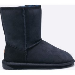 Emu Australia - Botki Stinger. Czarne buty zimowe damskie EMU Australia, z materiału, z okrągłym noskiem, na obcasie. Za 769,90 zł.