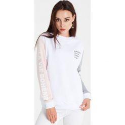 Naoko - Bluza La Vie Boheme Blanc x Edyta Górniak. Szare bluzy damskie marki NAOKO, l, z elastanu, casualowe. W wyprzedaży za 149,90 zł.