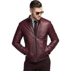 Kurtka ENRICO SKAS000045. Czerwone kurtki męskie skórzane Giacomo Conti, na jesień, m. Za 1499,00 zł.