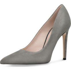 Czółenka INGRID. Szare buty ślubne damskie Gino Rossi, ze skóry, na wysokim obcasie, na szpilce. Za 229,95 zł.