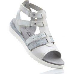 Buty: Wygodne sandały skórzane bonprix jasnoszary