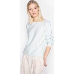 Bluza z moltonu. Niebieskie bluzy damskie La Redoute Collections, l, z bawełny, z długim rękawem, długie. Za 70,52 zł.