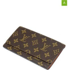 """Portfele damskie: Portfel """"Checkbook Holder Large Slot"""" w kolorze brązowym – 17 x 9 x 1 cm"""