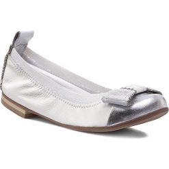 Baleriny ZARRO - 41/30 Biały Srebrny. Białe baleriny dziewczęce Zarro, ze skóry. Za 169,00 zł.