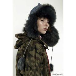 Jeansowa czapka zimowa. Czarne czapki zimowe damskie Pakamera, na zimę, z jeansu. Za 180,00 zł.