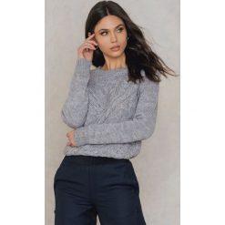 Swetry klasyczne damskie: Rut&Circle Sweter w warkocze Elsa – Grey
