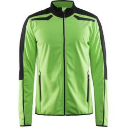 Kurtki męskie bomber: Craft Kurtka męska Intensity Softshell Jacket czarno-zielona r. S (1904463-2620)