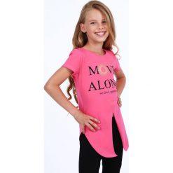 Tunika dziewczęca z rozcięciem amarantowa NDZ8229. Czerwone sukienki dziewczęce marki Fasardi. Za 39,00 zł.