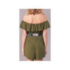 Sukienki krótkie Guess  RESPUNNI. Zielone sukienki mini marki Guess, l, z aplikacjami, z krótkim rękawem. Za 351,20 zł.