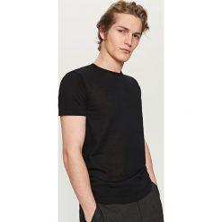 T-shirty męskie: T-shirt z lekkiej dzianiny – Czarny