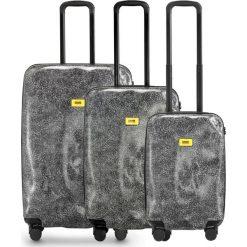 Walizki Surface w zestawie 3 el. White Fur. Białe walizki marki Crash Baggage, z materiału. Za 2712,00 zł.