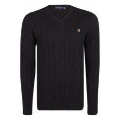 Giorgio Di Mare Sweter Męski M Czarny. Czarne swetry klasyczne męskie marki Giorgio di Mare, m, z bawełny. W wyprzedaży za 199,00 zł.