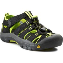 Sandały KEEN - Newport H2 1009965 Black/Lime Green. Czarne sandały chłopięce Keen, z gumy. W wyprzedaży za 179,00 zł.