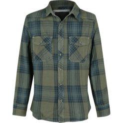 Brandit Checkshirt Koszula zielony/niebieski. Białe koszule męskie na spinki marki Brandit, l, z aplikacjami, z bawełny, z długim rękawem. Za 121,90 zł.