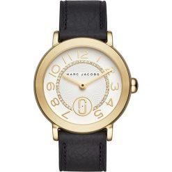 Marc Jacobs RILEY Zegarek schwarz. Czarne zegarki damskie Marc Jacobs. W wyprzedaży za 734,30 zł.