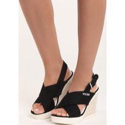 Rzymianki damskie: Czarne Sandały Mik