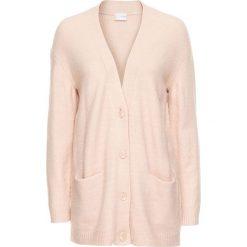 Sweter rozpinany oversize bonprix dymny różowy melanż. Czerwone swetry rozpinane damskie marki bonprix. Za 89,99 zł.