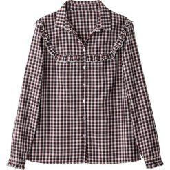 Bielizna damska: Koszula w kratę, detal z falbaną