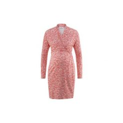Bellybutton  Sukienka dla kobiet w ciąży NERITA spiced coral. Niebieskie sukienki ciążowe marki bonprix, z materiału, z dekoltem w serek. Za 229,00 zł.