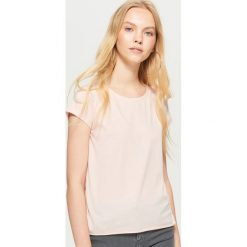Bluzki, topy, tuniki: Gładka koszulka basic - Różowy