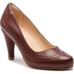 Półbuty CLARKS - Dalia Ruby 261349454  Tan Leather. Brązowe półbuty damskie skórzane marki Clarks, na obcasie. W wyprzedaży za 319,00 zł.
