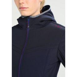 CMP FIX HOOD Kurtka Softshell black blue. Czerwone kurtki sportowe damskie marki CMP, z materiału. W wyprzedaży za 381,75 zł.