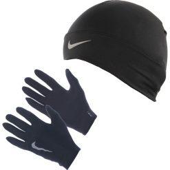 Rękawiczki i czapka do biegania damskie NIKE RUN DRI-FIT BEANIE/GLOVE SET / NRC01-001. Czarne rękawiczki damskie Nike. Za 129,00 zł.