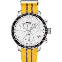 PROMOCJA ZEGAREK TISSOT Quickster Special Edition Los Angeles Laker. Białe zegarki męskie TISSOT, ze stali. W wyprzedaży za 1390,40 zł.