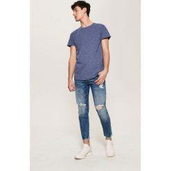 Jeansy męskie regular: Jeansy typu cropped - Niebieski