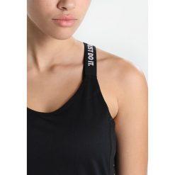Nike Performance DRY TANK ELASTIKA Koszulka sportowa black/´white. Czarne topy sportowe damskie marki Nike Performance, l, z materiału. Za 129,00 zł.