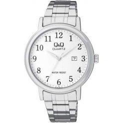 Biżuteria i zegarki męskie: Zegarek Q&Q Męski BL62-204 Klasyczny Data srebrny