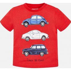 Mayoral - T-shirt dziecięcy 68-98 cm. Czerwone t-shirty męskie z nadrukiem Mayoral, z bawełny. Za 54,90 zł.