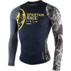 Koszulki do fitnessu męskie: koszulka kompresyjna do biegania męska REEBOK SPARTAN PRO LONG SLEEVE COMPRESSION / AX9518