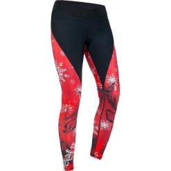Spodnie damskie: Feelj Legginsy damskie termiczne Deer czarno-czerwone r. S