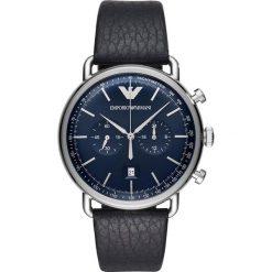 Zegarek EMPORIO ARMANI - Aviator AR11105 Blue/Silver. Niebieskie zegarki męskie Emporio Armani. Za 1149,00 zł.