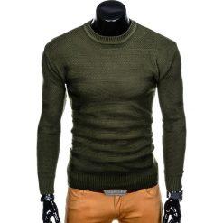 SWETER MĘSKI E135 - KHAKI. Brązowe swetry klasyczne męskie marki Inny, m. Za 49,00 zł.