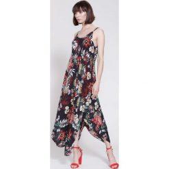 Sukienki hiszpanki: Czarna Sukienka Cherry Lady