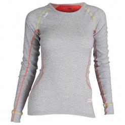 Swix Bluzka Damska Racex, Szara/Pomarańczowa, L. Brązowe bluzki sportowe damskie marki Swix, l, z długim rękawem. W wyprzedaży za 109,00 zł.