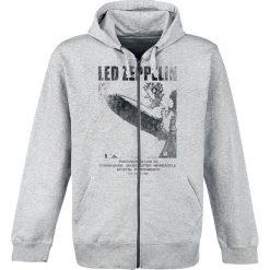 Bluzy męskie: Led Zeppelin UK Tour '69 Bluza z kapturem rozpinana szary