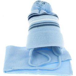 Czapka dziecięca z szalikiem CZ+S 018F niebieska r. 46-50. Niebieskie czapeczki niemowlęce Proman. Za 45,25 zł.