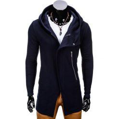 BLUZA MĘSKA ROZPINANA Z KAPTUREM B668 HUGO - GRANATOWA. Niebieskie bluzy męskie rozpinane marki Ombre Clothing, m, z bawełny, z kapturem. Za 99,00 zł.