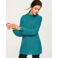 Sweter z domieszką wełny i moheru - Turkusowy. Szare swetry klasyczne damskie marki Reserved, l, z moheru. Za 239,99 zł.