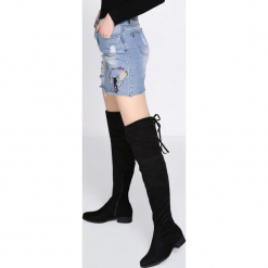 Czarne Kozaki Downright. Czarne buty zimowe damskie marki Born2be, na płaskiej podeszwie. Za 144,99 zł.