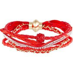 Bransoletki damskie: Bransoletka z kryształkami Swarovski w kolorze czerwonym