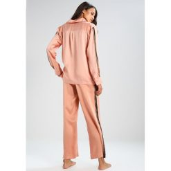 Piżamy damskie: ASCENO BLUSH BOLD STRIPE BOTTOM Spodnie od piżamy blush bold