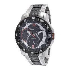 """Zegarki męskie: Zegarek """"CAP-1103213.C"""" w kolorze srebrno-czarnym"""