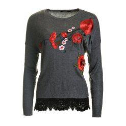 Swetry klasyczne damskie: Desigual Sweter Damski Rosalia S Szary