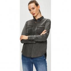 Vero Moda - Koszula. Szare koszule damskie marki Vero Moda, l, z bawełny, casualowe, z klasycznym kołnierzykiem, z długim rękawem. W wyprzedaży za 129,90 zł.