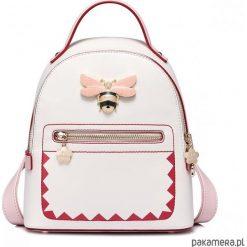 Plecaki damskie: JUST STAR Słodki plecak z pszczołą Ecru